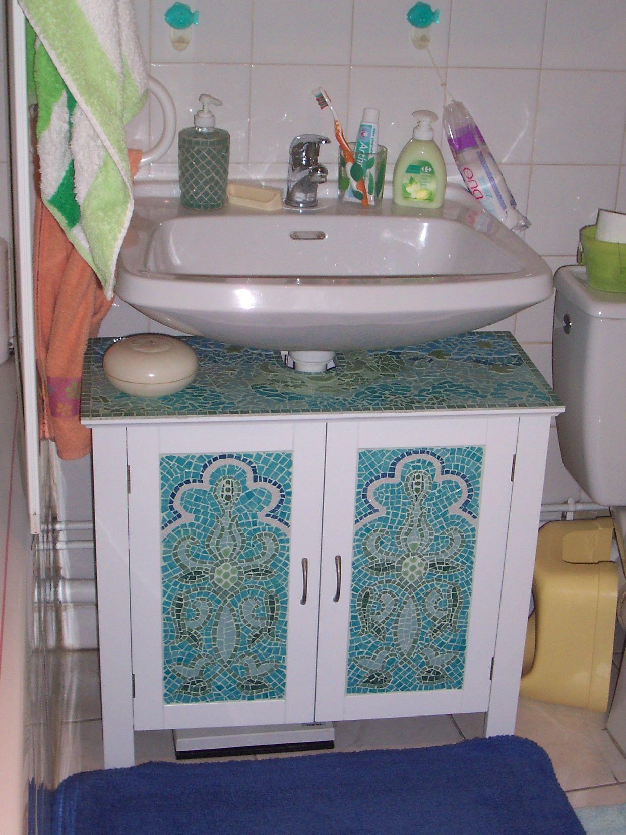 Mosaique for Meuble en coin salle de bain